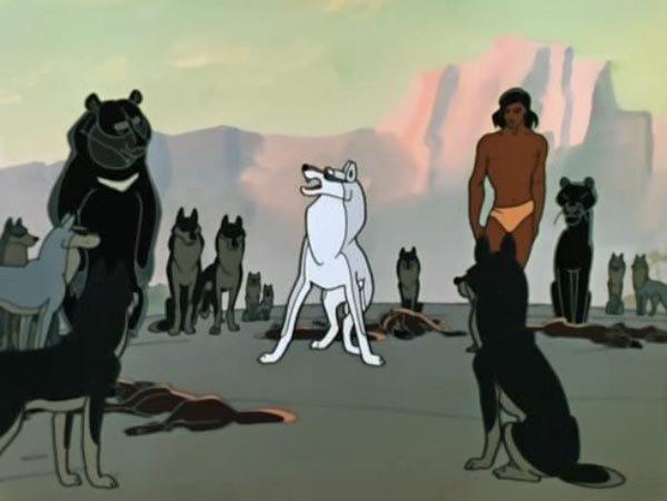 - Свободная Стая! Я ухожу в долину Смерти. Вам нужен новый Вожак - молодой, сильный, мудрый. Я говорю о Маугли. А теперь я буду петь последнюю песню.