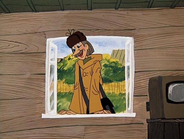 Нет, я не из милиции. Я из почты. Я почтальон тутошний, Печкин. Поэтому я все должен знать, чтобы почту разносить.